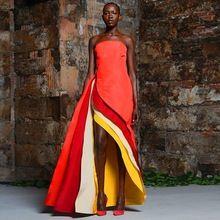 Mode coloré bretelles Orange Satin longues robes de soirée 2016 nouvelle arrivée robes formelles(China (Mainland))
