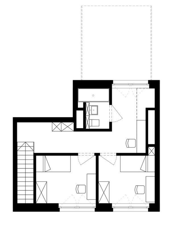 Plano departamento d plex 2 futura casa en 2019 for Diseno apartamentos duplex pequenos