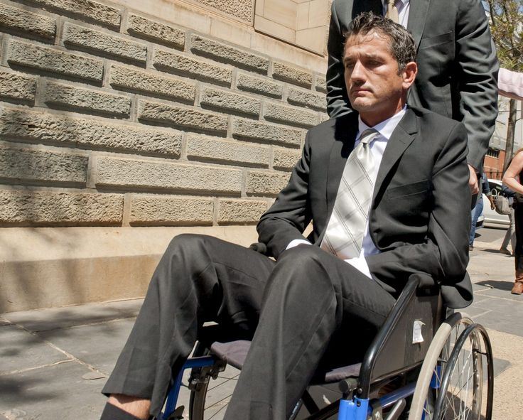 Joost van der Westhuizen jetted off to America on Sunday where he will take part in clinical studies for research into motor neuron disease.