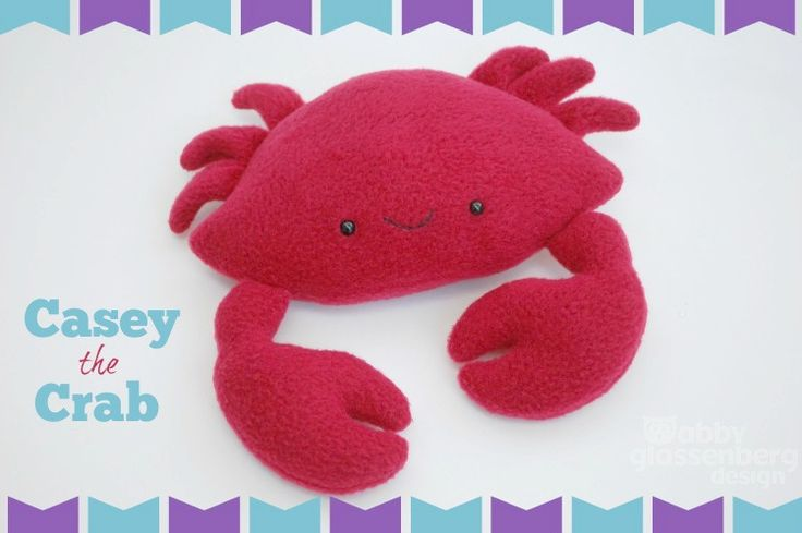 DIY Felt Crab - FREE Sewing Pattern and Tutorial