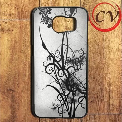 Abstract Beautiful Black Pattern Samsung Galaxy S6 Edge Plus Case