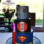 ~ Jarrod & Juley ~ A comibnation of Superman, Mustang and Dallas Cowboy groom cake. Delivered to The Orchard in Azle, Tx.