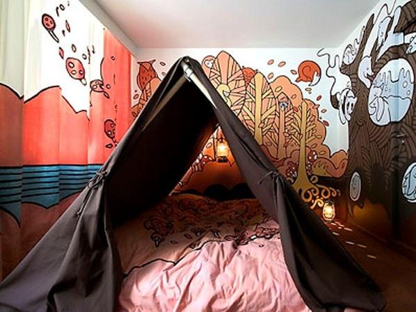 Lit-tente, Hotel Fox, Copenhague ©Hôtel Fox