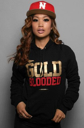 49ers! Adapt Advancers — Gold Blooded (Women's Black/Gold Hoody)