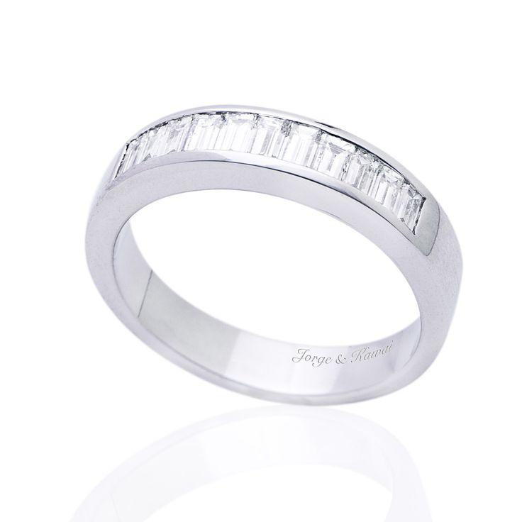 Anillos de Compromiso de Diamantes de talla baguette de Jorge Juan Joyeros