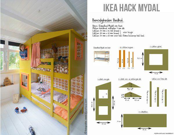 #ikea #hack mydal how to http://www.moodkids.nl/trend/kinderkamer