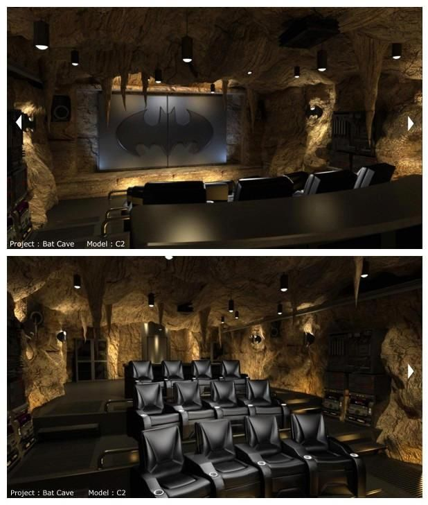 Oh, I am SUCH a little kid! This is awesome!! Bat Cave Movie Theater