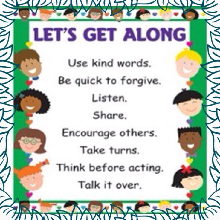 Lets Get Along Chart $5+ Postage and Handling.  Remind your children of the Joys of Friendship!