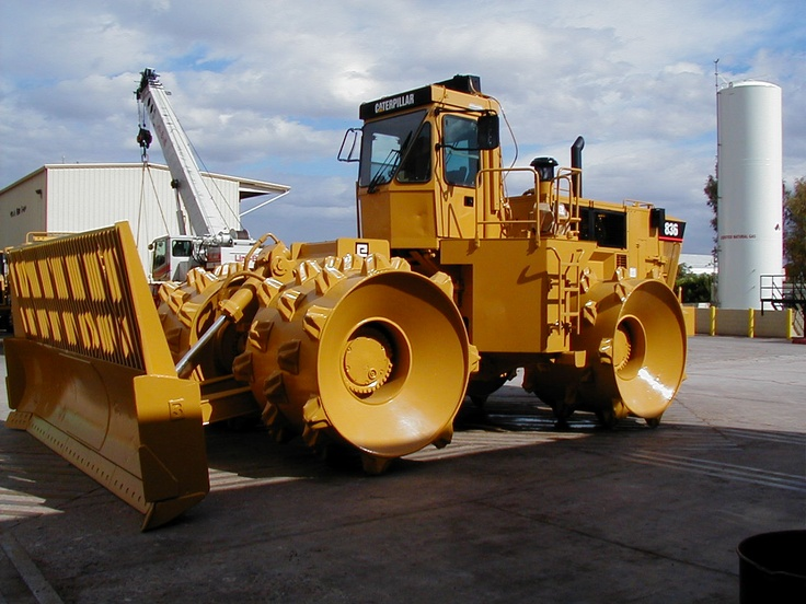 This steel wheel compactor weighs a whopping 118,000 lbs