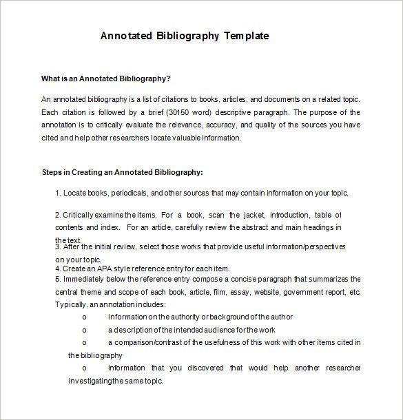 Annotated Bibliography Template Check More At Https Cleverhippo