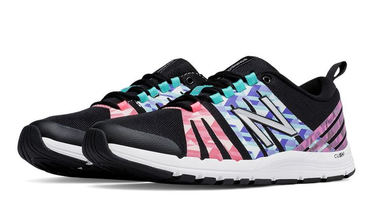 New Balance 811 Print Trainer, Black with Guava & Spectral