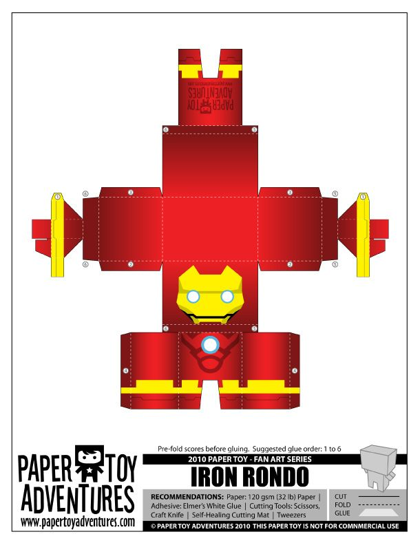Blog Paper Toy papertoys Iron Man PTA template preview 4 (+1) Paper Toys Iron Man !!!