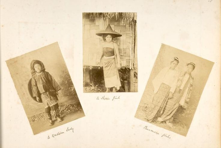 A Kachin lady; A Shan girl; Burmese girls. One of hundreds of thousands of free digital items from The New York Public Library.