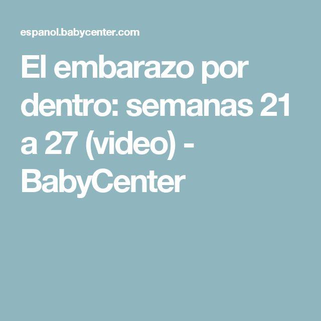 El embarazo por dentro: semanas 21 a 27 (video) - BabyCenter