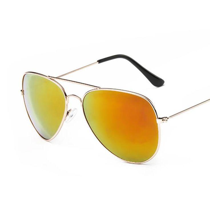 Classic Pilot Sunglasses Women Men Brand Designer Vintage For Women Driver Glasses Male Metal Frame Clear Lens