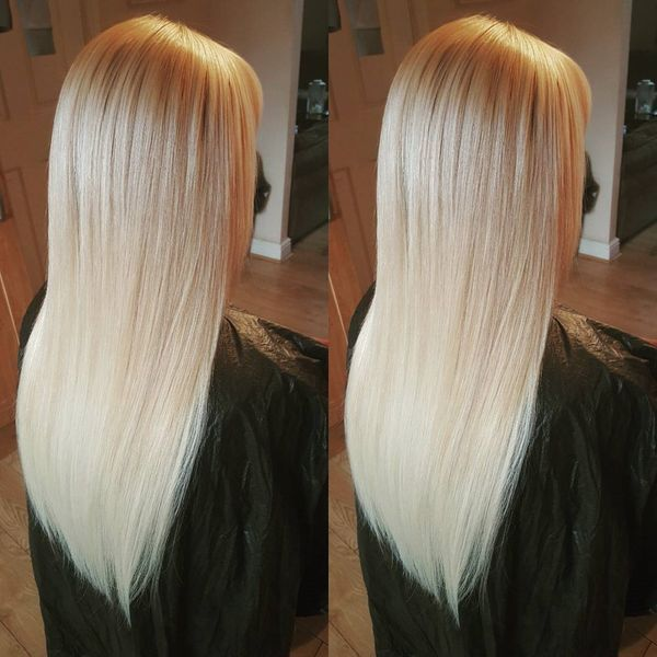 Langes blondes Haar #modernefrisuren #schöne #haarefarben #gesundesblondes #frisuren2019 – F