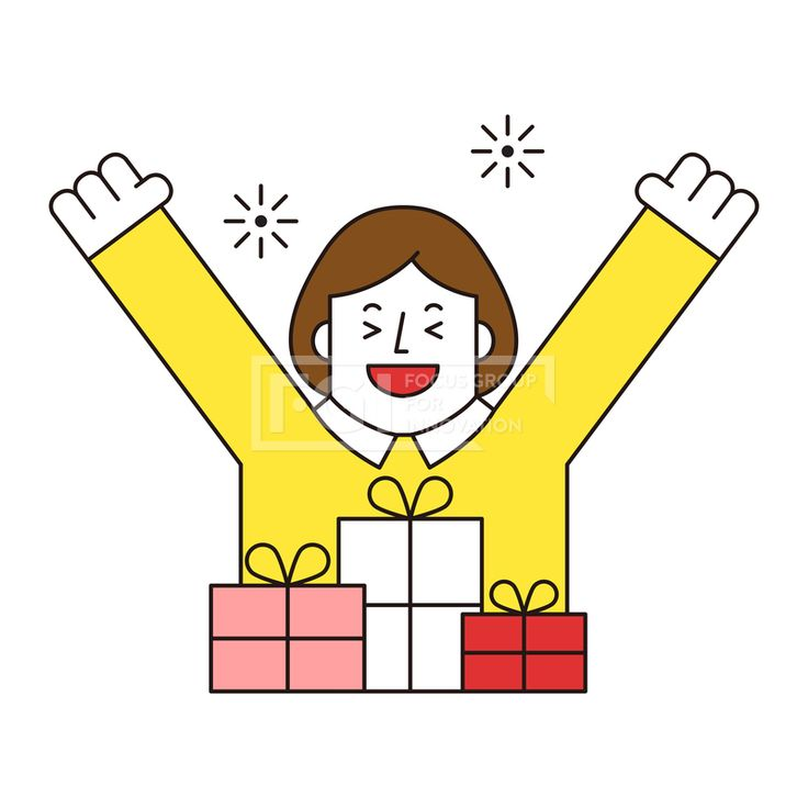 ILL161, 프리진, 일러스트, 생활, 사람, ILL161, 캐릭터아이콘, 캐릭터, 인물, 손짓, 상반신, 손가락, 핸드모션, 동작, 여자, 여성, 청년, 쇼핑, 이벤트, 혜택, 선물, 선물상자, 환호,#유토이미지