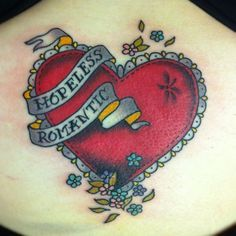 Hopeless Romantic Heart Tattoo Love this (hopeless romantic.) tattoo ...