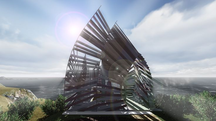 Shaped like palm leaves and designed to be translucent. #luxury #architecture