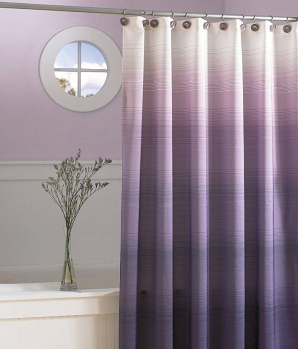 22 Clever Ideas Of Ombre Interior Designs Purple Shower Curtain