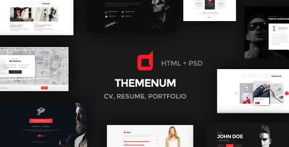 Themenum - Personal Vcard Resume & Cv HTML Template. Full view: https://themeforest.net/item/themenum-personal-vcard-resume-cv-html-template/16497276?ref=thanhdesign