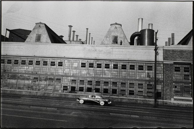 Robert Frank  'Detroit River Rouge Plant'  1955  gelatin silver print  © Robert Frank. Detroit Institute of Arts.