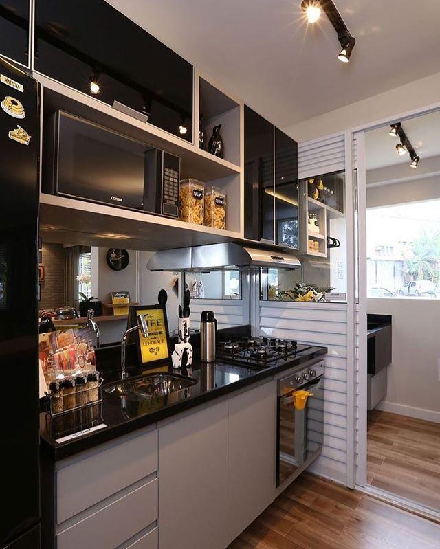 Linda essa cozinha . #meuapedecor #apartment #apartamento #decoração #decoration #inspiração #inspiration #pinterest