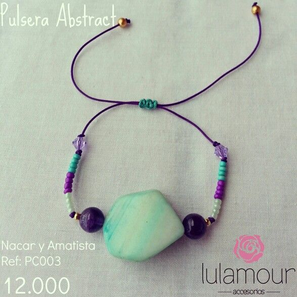 Abstract bracelet. More on @lulamourr on instagram And Lulamour Accesorios on Facebook. Colombian brand