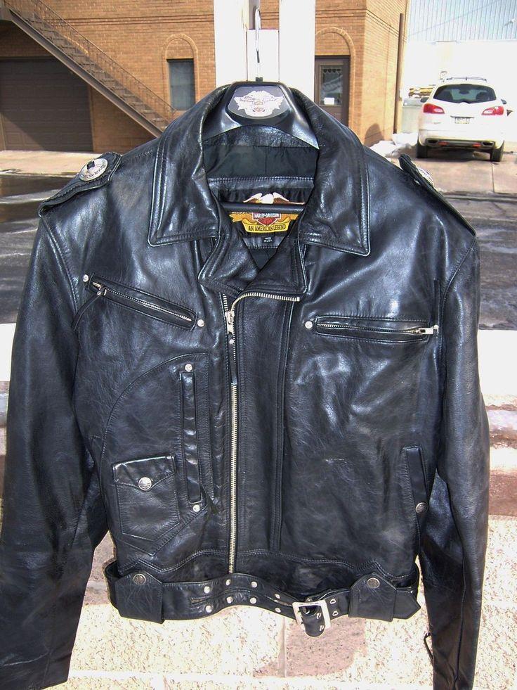 Vintage Harley Davidson & # 034; & # Boise 034; Veste en cuir noir 98125-96VM Men & # 039; s Grand   eBay