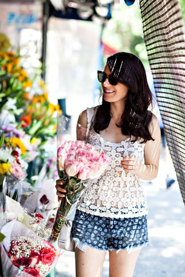 Saturday Flower Shopping.