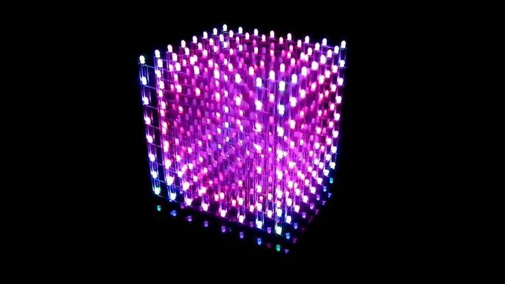 led animation cube