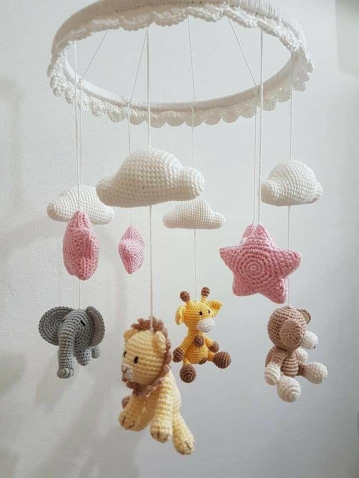 Pin De Joy 777joyevans En Amigurumi Móviles Para Bebé De Ganchillo Móviles Para Bebés Juguetes De Bebé De Ganchillo