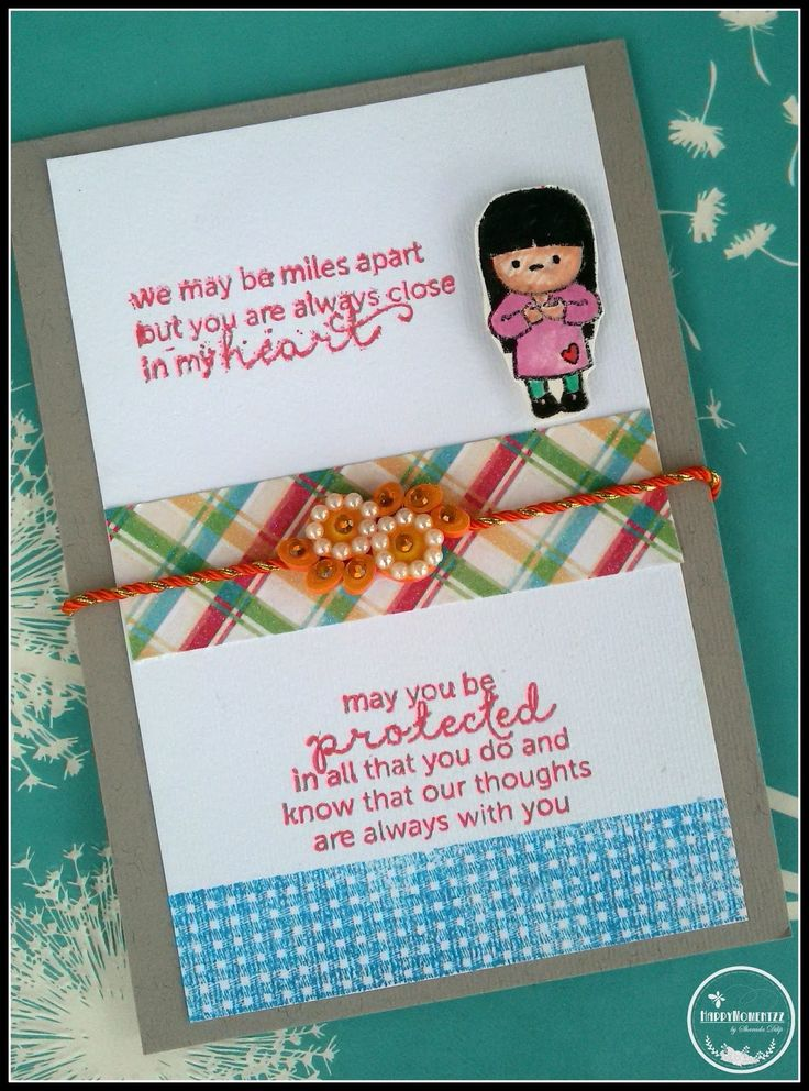 HappyMomentzz crafting by Sharada Dilip: Rakhi cards at HappyMomentzz