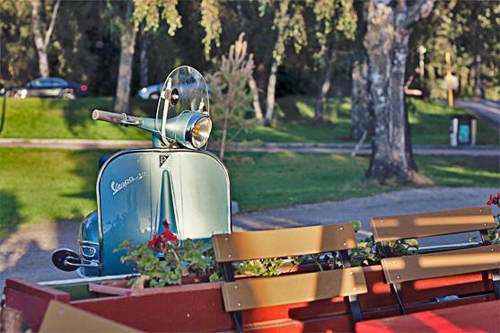 Vespa  Bird house  Cafe Regatta – Cozy Cottage by the Seaside by Conchi Garcia, RAWR Magazine