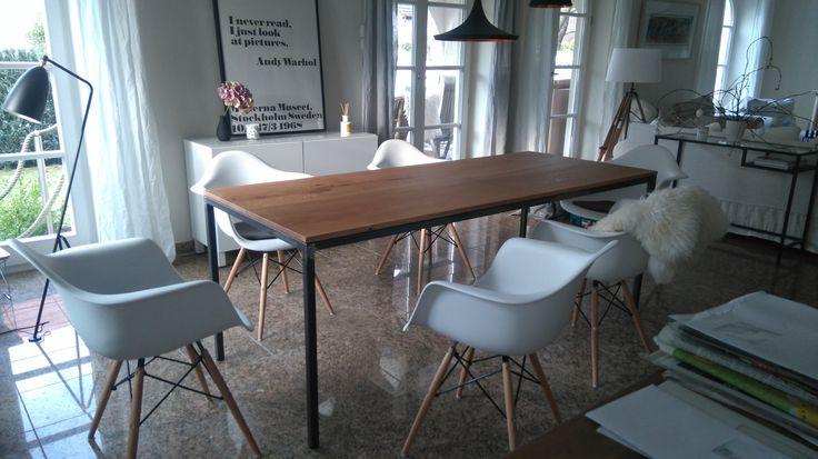 Eisenhauer Tisch ausnahmsweise mit einer Leimfuge