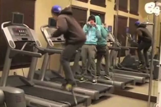 treadmill - I laugh 'cept I have been the treadmill victim before and it hurts like hell!