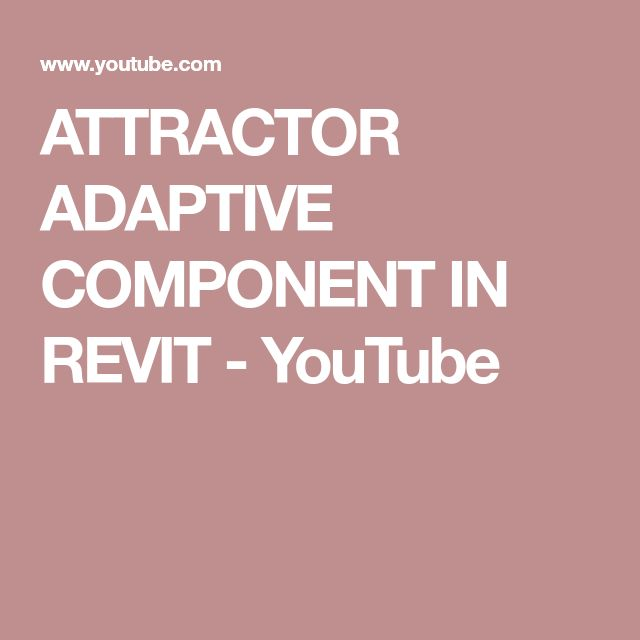 ATTRACTOR ADAPTIVE COMPONENT IN REVIT - YouTube
