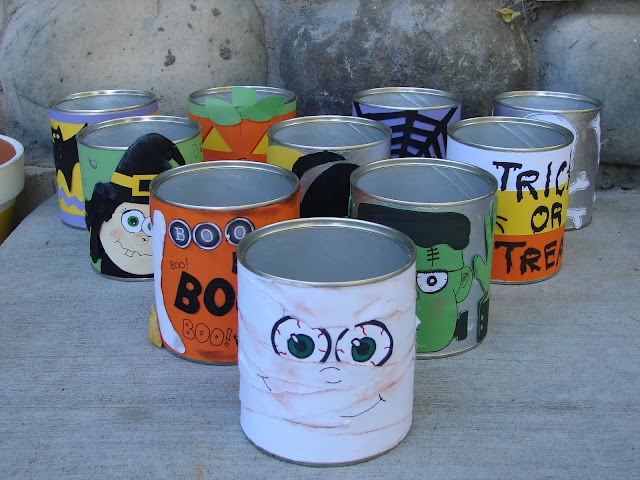 Pumpkin bowling....or make bean bags and turn it into a toss game w/ a candy bar in each can as a prizeHalloween Parties, Fall Festivals, For Kids, Halloween Fun, Halloween Party Games, Beans Bags, Halloween Games, Formula Cans, Parties Games