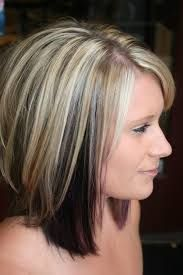 Image result for hair color dark underneath light on top pictures