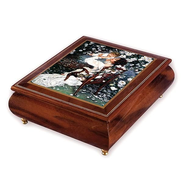 "Jewellery Box with Melody playing "" What a wonderful world"""