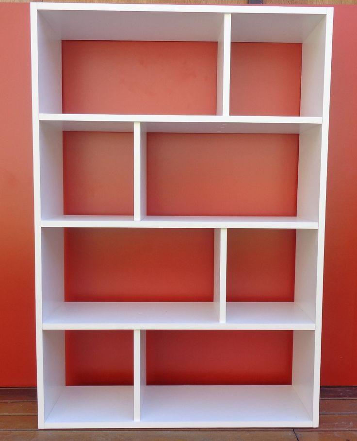 Biblioteca cubo melamina blanca 954 00 en mercadolibre - Biblioteca madera blanca ...