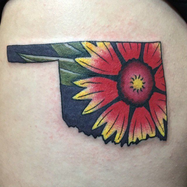 Pin for Later: 50 States of Tattoos: Ink Ideas From Every Corner of America Oklahoma