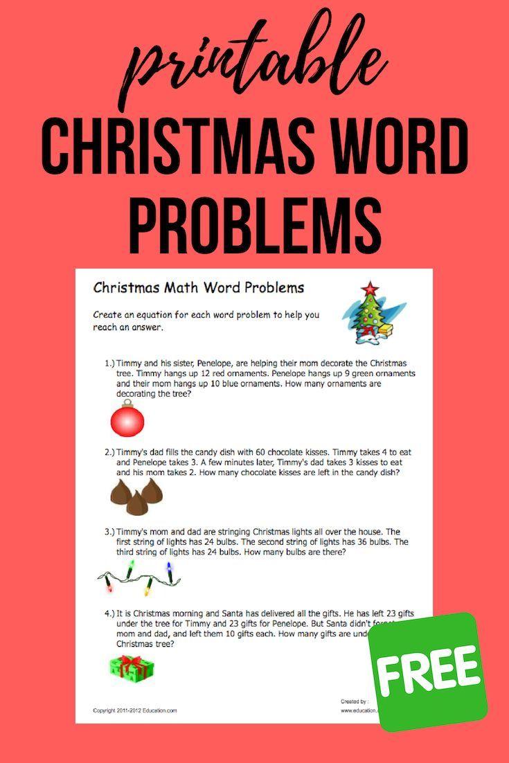 Christmas Word Problems Worksheet Education Com Word Problems Christmas Words Math Word Problems [ 1102 x 735 Pixel ]
