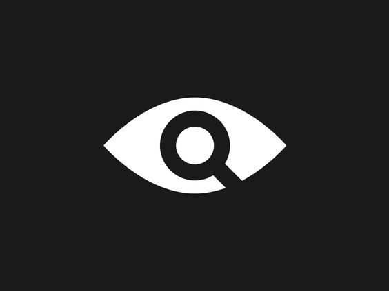 logo research _ an eye incorporated with a magnifying glass. giving you the impression that the eye cannot see properly.