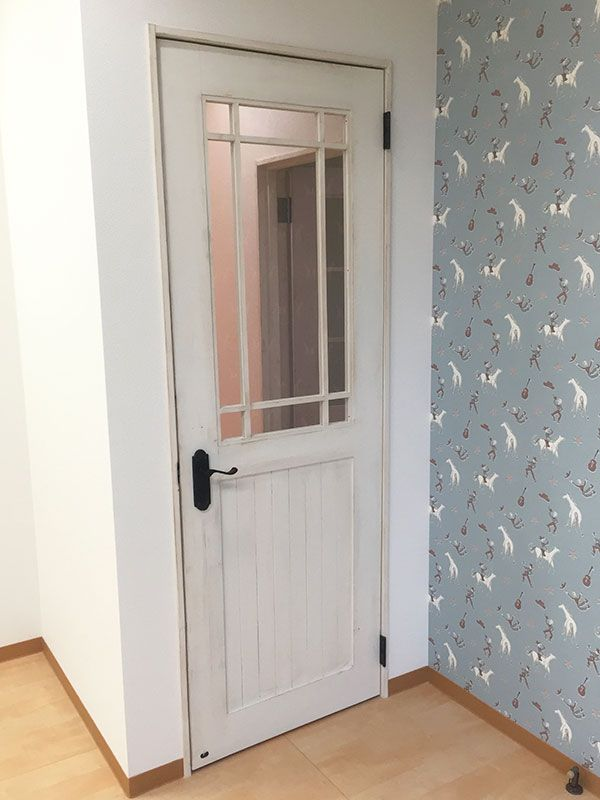 木格子ドア3 室内ドア ドア 施工