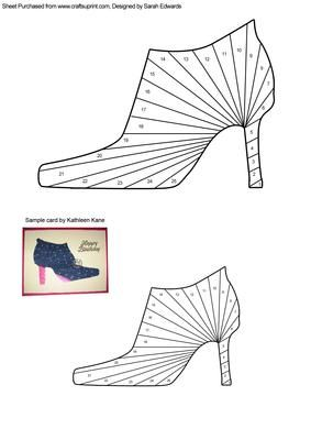 High Heeled Shoe Iris Folding Pattern