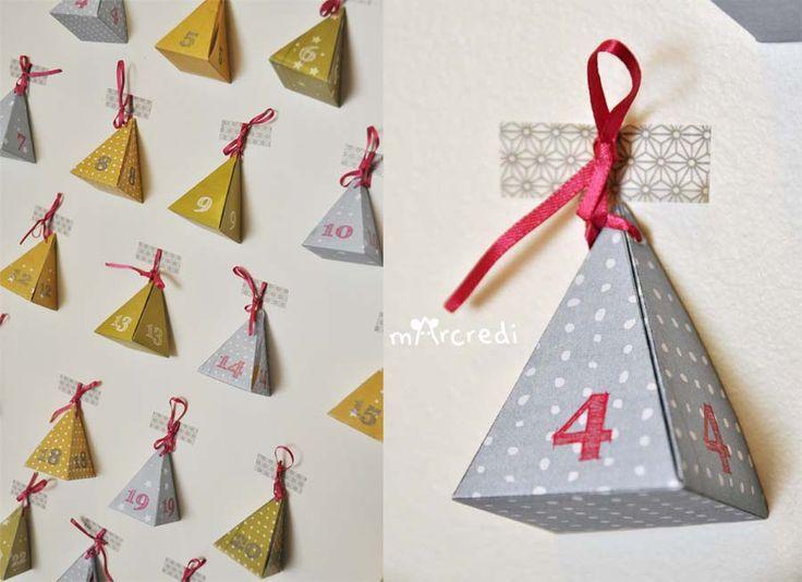 calendrier avent pyramide mt   les créations de mArcredi