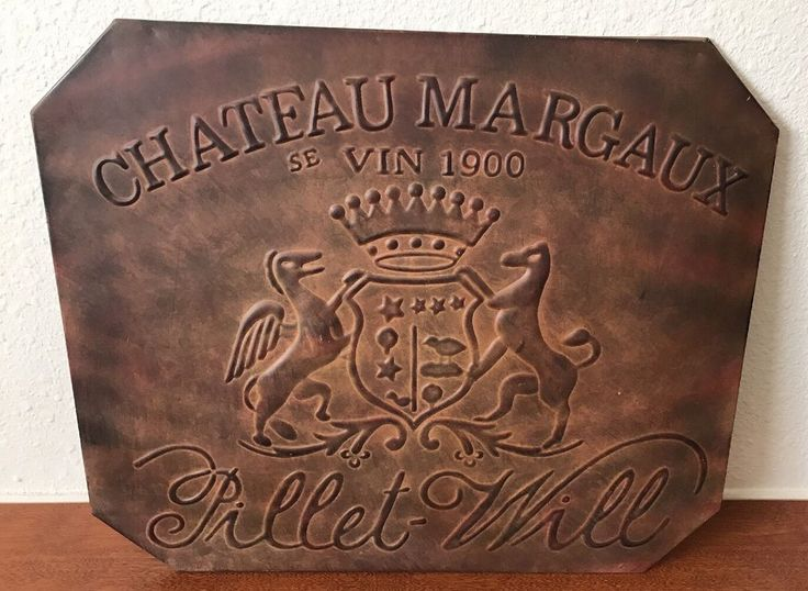 VTG RARE Chateau Margaux  se Vin 1900 Pillet - Will  Retail sign  | eBay