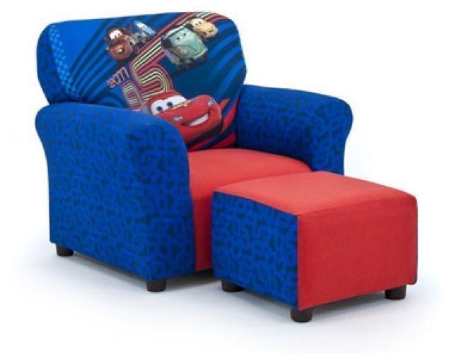 KidzWorld Disney's Cars 2 Kid's Club Chair And Ottoman Set #KidzWorld