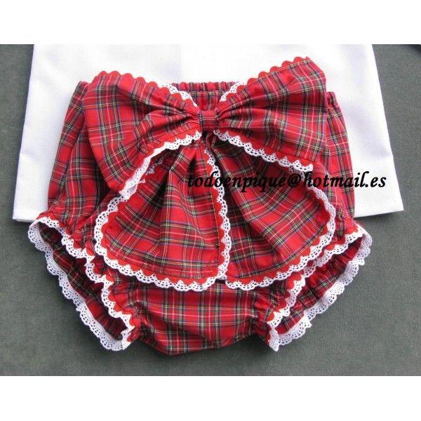 Conjunto Eve de camisa, cubrepañal con lazo y capota - Todo en Piqué para bebé